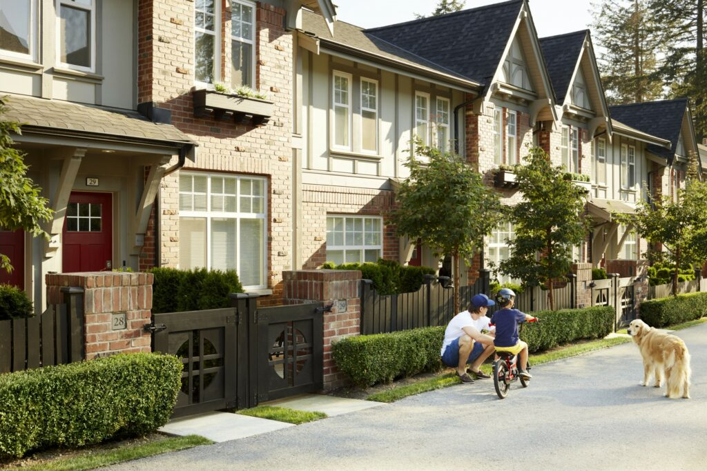 Exterior Bike Townhomes in Coquitlam