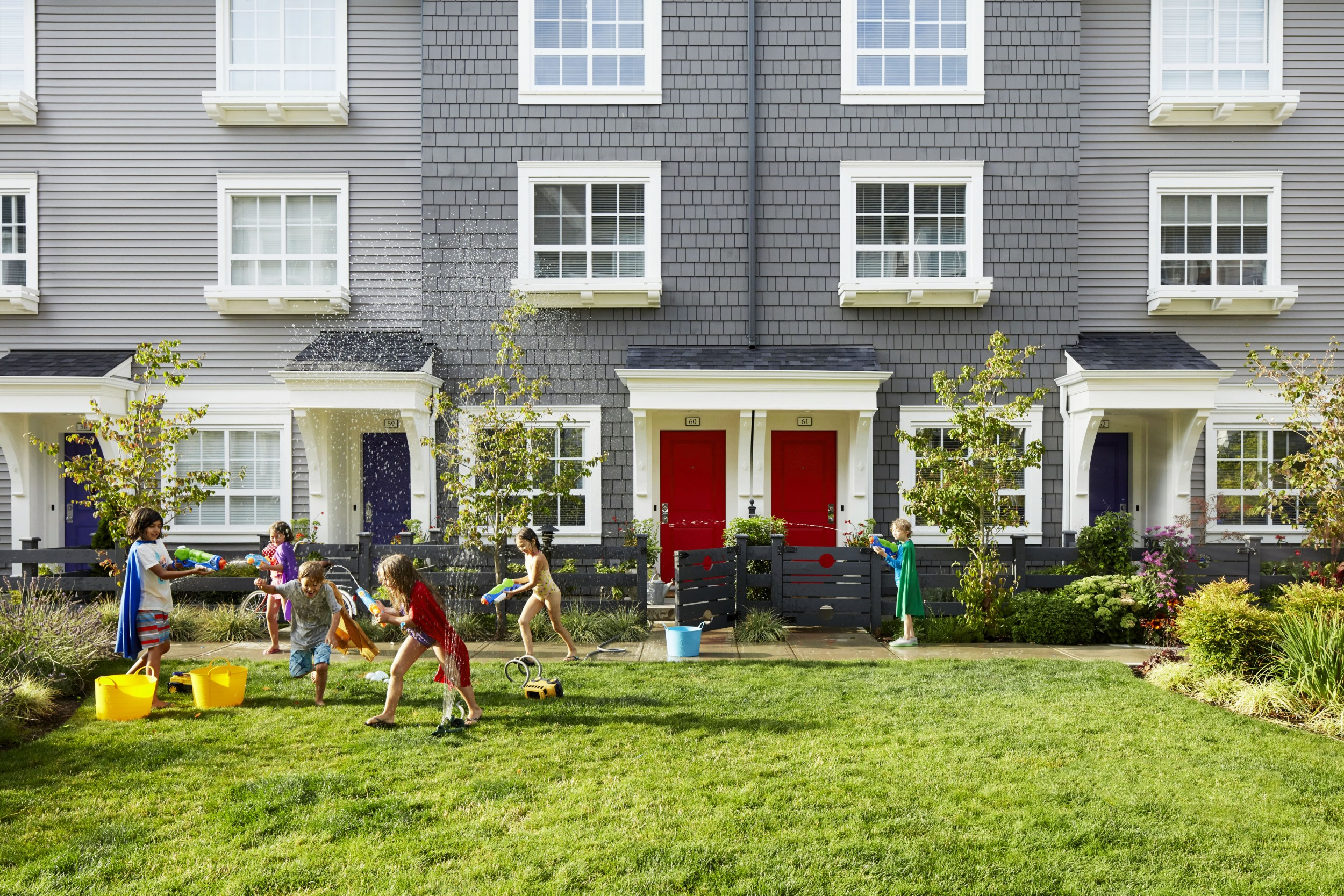 Exterior Straight Townhomes in Langley